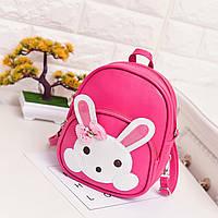 Детская сумочка - рюкзак, малиновый Зайчик