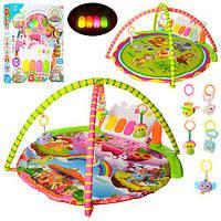 Коврик для младенца 042 -044 (8шт) 85см,дуга 2шт,подвес5шт,пианино,муз,св,2в,на бат,в кор,59-49-9см