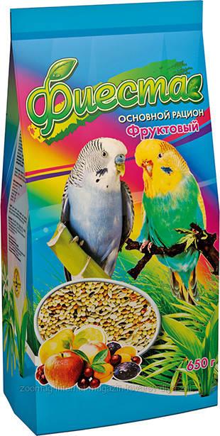 Корм «Фиеста Фруктовый» для волнистых попугаев Природа™, 650г