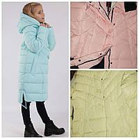 Зимняя удлененная куртка полупальто Anernuo 17162 размер 130,140,160,170