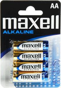 АА Maxell Alkaline 4 in BLISTER LR6
