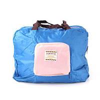 Летняя сумка с короткими ручками голубого цвета