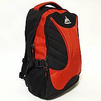Городской рюкзак One polar 30 л W1307 для ноутбука надежный качественный черно-красный