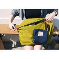 Летняя сумка с короткими ручками зеленого цвета