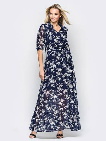 Витончене шифонове плаття в підлогу , фото 2