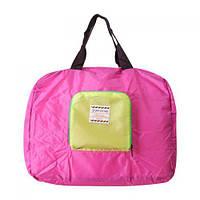 Летняя сумка с короткими ручками розового цвета