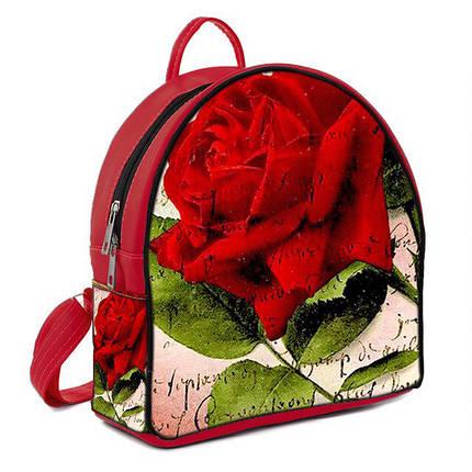 Городской рюкзак с принтом Роза, фото 2