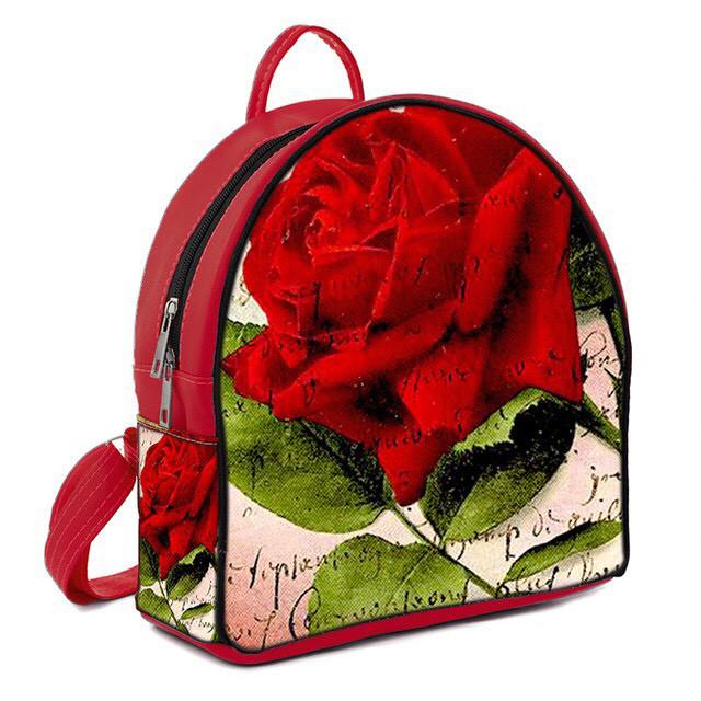 Городской рюкзак с принтом Роза