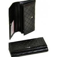 Кожаные женские кошельки(черный)19*10см