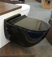 Унитаз черный подвесной с крышкой NEWARC Modern