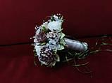 Свадебный букет-дублер из пионов в цвете айвори с мокко, фото 2