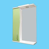 Зеркало для ванной комнаты Волна Z-1 55 салатовое левое Ариал