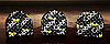 Набойки черные на штыре «Cobby» 10x10мм, штырь 2,5мм, фото 3