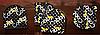 Набойки черные на штыре «Cobby» 10x10мм, штырь 2,5мм, фото 4