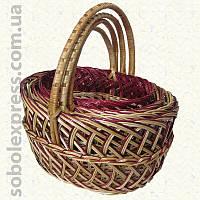 Корзинка плетеная из лозы комплект из 4-х