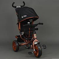 Детский Велосипед трехколёсный Бест Трайк Best Trike 6570 бронзовый с большими колёсами (вспененная резина).