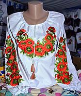 Жіноча вишиванка вишита маками в Украине. Сравнить цены c4bcb4adbd0f2