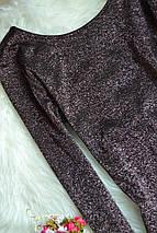 Облегающее платье с розовой блестящей ниткой H&M, фото 3