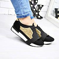 Кроссовки женские черные сахар , женская обувь