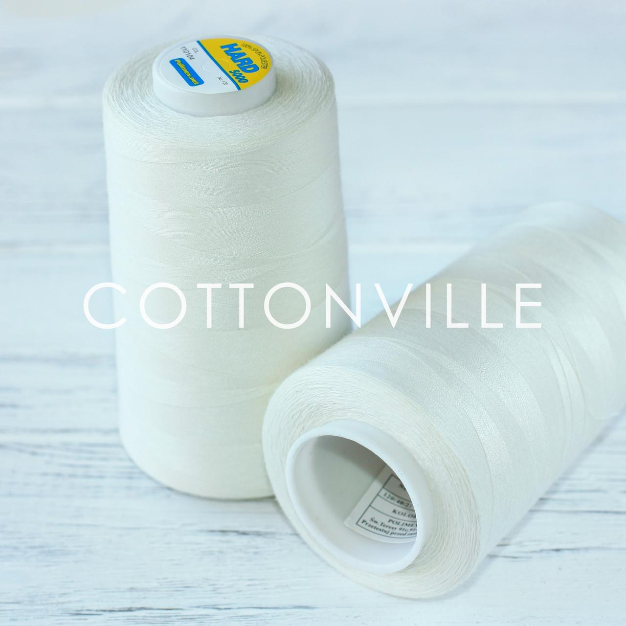 Нитки швейные 40/2 прочные (5000Y) цвет светлый экрю