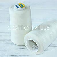 Нитки швейные 40/2 прочные (5000Y) цвет светлый экрю, фото 1