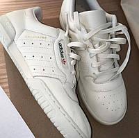 Мужские кроссовки Adidas Yeezy Calabasas Powerphase (Адидас Изи) белые