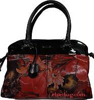 Женская сумка с натуральной кожей в виде кокетки