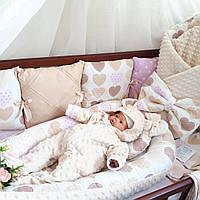 Бортики + постельное + конверт-плед + кокон + ортопедическая подушка + комбинезон