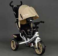 Детский Велосипед трехколёсный Бест Трайк Best Trike 6570 бежевый с большими колёсами (вспененная резина).