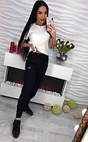 Женские шикарные брюки декорированы под Kenzo, фото 1