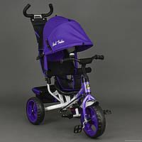 Детский Велосипед трехколёсный Бест Трайк Best Trike 6570 фиолетовый с большими колёсами (вспененная резина).