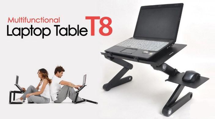 Столик трансформер для ноутбука Laptop Table T8, подставка для ноутбука