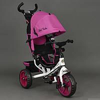 Детский Велосипед трехколёсный Бест Трайк Best Trike 6570 розовый с большими колёсами (вспененная резина).