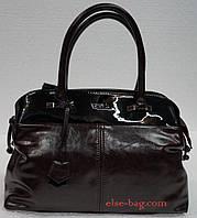 Женская сумка саквояж с кокеткой