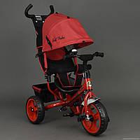Детский Велосипед трехколёсный Бест Трайк Best Trike 6570 красный с большими колёсами (вспененная резина).