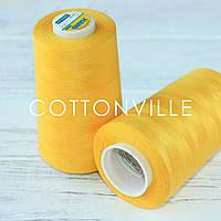 Нитки швейні 40/2 міцні (5000Y) колір жовтий