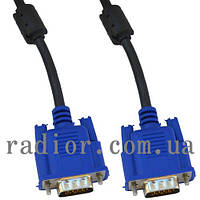 Шнур комп.VGA шт.HDB15pin- шт.HDB15pin, с фильт., 10 метров (4-0063-10)