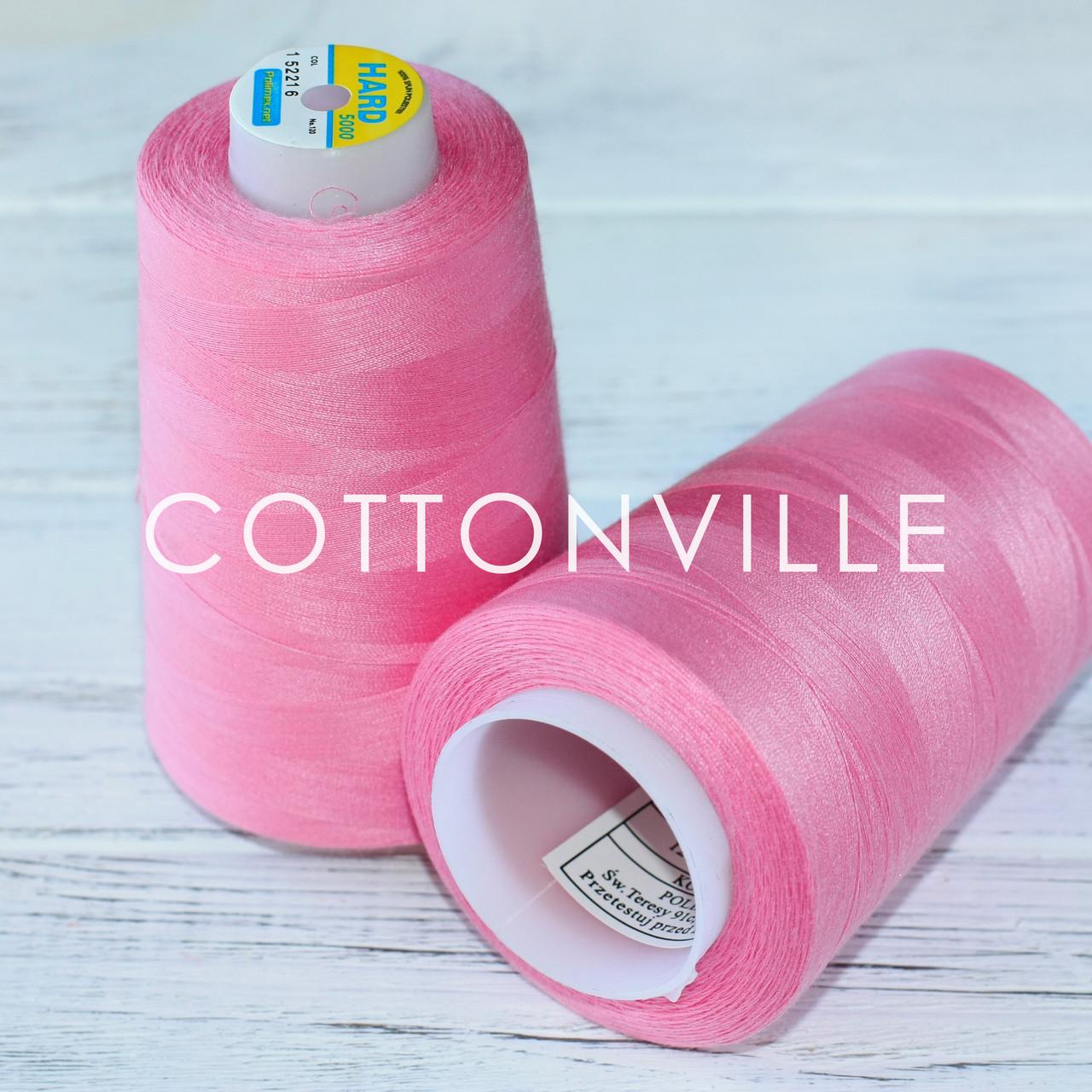 Нитки швейные 40/2 прочные (5000Y) цвет розовый