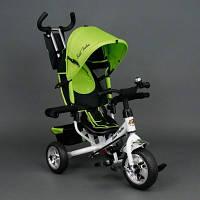 Детский Велосипед трехколёсный Бест Трайк Best Trike 6570 салатовый с большими колёсами (вспененная резина).