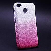 Силиконовая накладка Gliter Ambre Xiaomi Redmi 4X (Pink)