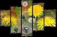 Модульная картина Одуванчики 108* 70 см Код: w8309