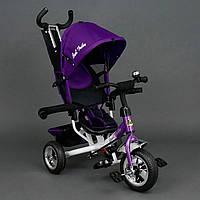 Детский Велосипед трехколёсный Бест Трайк Best Trike 6570 фиолетовый2 с большими колёсами (вспененная резина).