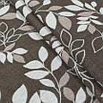 Гобелен ткань, листья березы, коричневый, фото 3