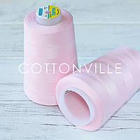 Нитки швейные 40/2 прочные (5000Y) цвет нежно-розовый