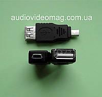 Переходник гнездо USB A на штекер mini USB