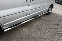 Подножки, Трубы на Opel Vivaro (2001-2014) TAMSAN Ø70 мм Короткая