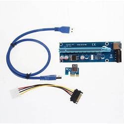 Райзер riser PCI - PCI-express USB SATA 60 см