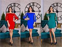 Женское платье декольте рукава вышивка Les2018