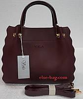Женская сумка из эко кожи с рюшами