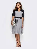 Стильне контрастне плаття Сірий 1a81823ff363c